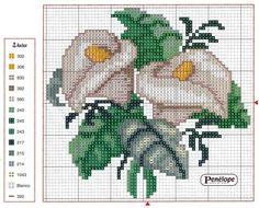 Gallery.ru / Фото #1 - ***** - celita Peace Lilies Free Cross Stitch Pattern