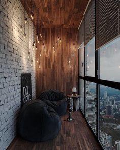 Apartment Goals // Dymitri Yshakov - Home Design Small Balcony Decor, Balcony Design, Deco Cool, Interior Design Career, Loft Interiors, Apartment Goals, Decoration Inspiration, Interior Inspiration, Design Inspiration