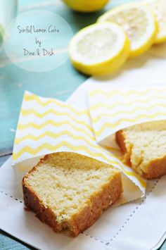 Sinful Lemon Cake Recipe - bursting with lemon flavor, this loaf cake will remind you of the one you can buy at your local coffee shop!