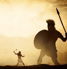 Christian Artwork, Christian Pictures, Bible Pictures, Jesus Pictures, Jesus Artwork, Bible Illustrations, David And Goliath, Prophetic Art, Biblical Art