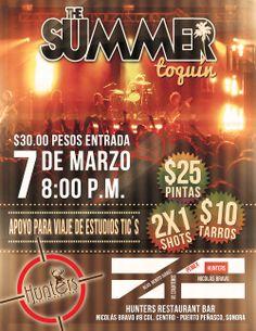 """Viernes 7 de Marzo: The Summer en Concierto en el Restaurante-Bar """"Hunters"""""""