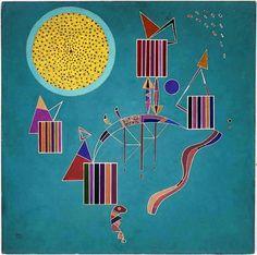 Wassily Kandinsky, A Private Party, 1942 #wassily-kandinsky-vasilii-vasil-ievich-kandinskii #art