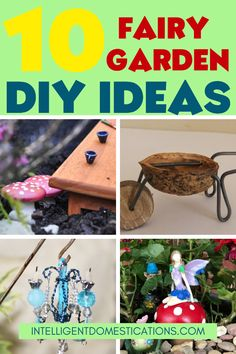 Make your own Fairy Garden and Fairy Garden accessories with these DIY Ideas. Use common household items to create cute Fairy Garden toad stools and other accessories. Fairy Garden Furniture, Backyard Furniture, Diy Garden Decor, Garden Ideas, Diy House Projects, Diy Craft Projects, Dollar Tree Decor, Cute Fairy, Garden Whimsy
