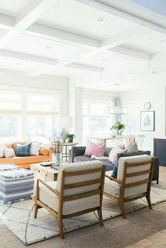 Bright colorful living room