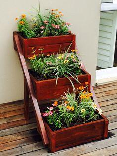 Mahogany planter boxes