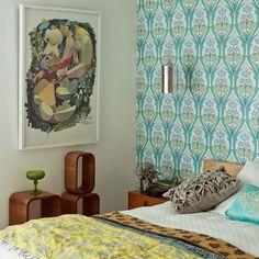 Modern patterned bedroom | Bedroom decorating ideas | housetohome.co.uk