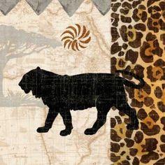 Safari Jungle IV Canvas Art - Pamela Gladding (24 x 24)