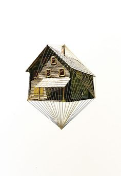 """A piece from the """"Lonely Houses"""" series by Hagar Vardimon-van Heummen, of Happy Red Fish"""