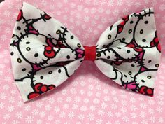 Hello Kitty Lots of Faces Fabric Hair Bow