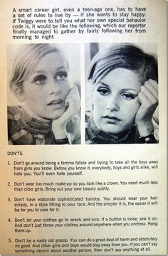 Twiggy's Do's And Don'ts As Told By Tyra Banks