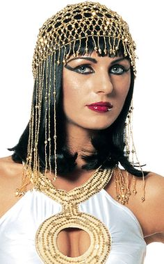 The gold Womens Cleopatra Headpiece completes an Egyptian princess Halloween costume. Our Cleopatra accessories complement our Egyptian costumes perfectly. See all of our fun Egyptian accessories. Cleopatra Halloween, Cleopatra Headdress, Queen Cleopatra, Egyptian Makeup, Egyptian Fashion, Egyptian Beauty, Egyptian Jewelry, Carnival, Costumes