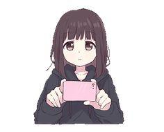 Menhera-chan: smile `w` Dibujos Anime Chibi, Cute Anime Chibi, Chica Anime Manga, Anime Neko, Kawaii Anime Girl, Anime Art Girl, Manga Girl, Anime Love, Anime Amor