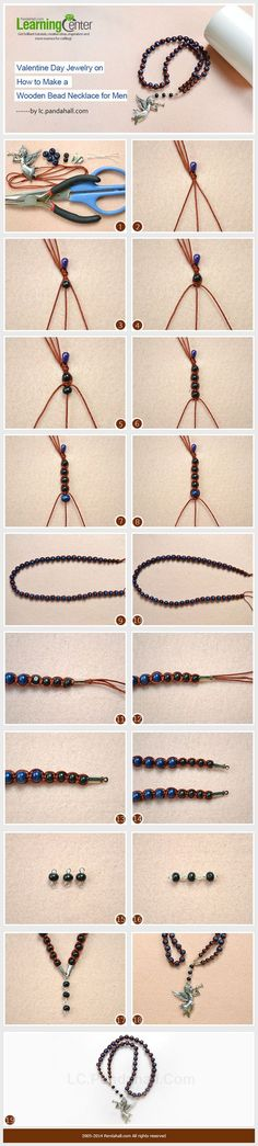 Valentine Day Jewelry on How to Make a Wooden Bead Necklace for Men