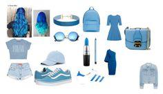 """I LOVE THA BLUEE"" by fabileal on Polyvore featuring moda, Sole Society, PB 0110, Miss Selfridge, MAC Cosmetics, Vans, Revo, adidas, Dolce&Gabbana y Roland Mouret"