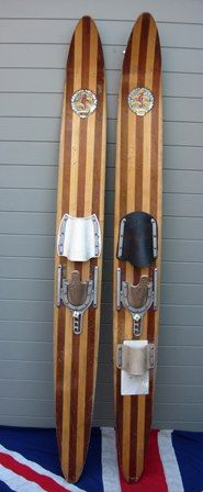 Vintage Wooden Water Skis Cabin Decoration Pinterest Skiing And Sports