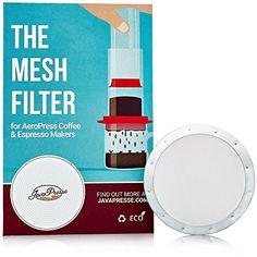 2 JavaPresse Reusable Metal Coffee Filters for Aerobie AeroPress  Stainless Steel Mesh  Slim Disks * For more information, visit image link.