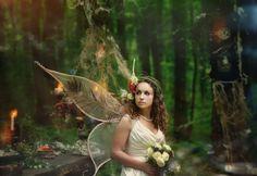 Свадебная фотосессия в стиле сад фей