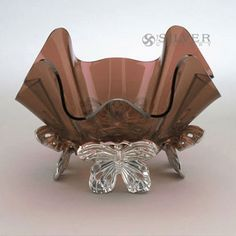 Arthur Court Butterfly Stand with Acrylic Bowl - Topaz Arthur Court, Topaz, Decorative Bowls, Butterflies, Special Occasion, Dishes, Silver, Beautiful, Jewelry