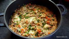 Bbq Meatballs, Romanian Food, Fast Food Restaurant, Turkey Recipes, 3 Ingredients, Paella, Fried Rice, Crockpot, Bacon