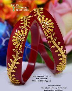 1 Gram Gold Jewellery, Gold Jewellery Design, Bridal Bangles, Gold Bangles, Thread Bangles, Gold Kangan, Italian Gold Jewelry, Hand Jewelry, Bengali Jewellery