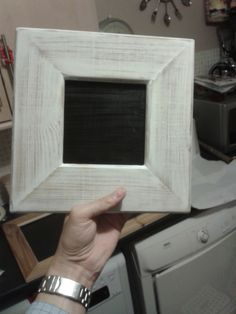"""rustic chalk board made with old bed slats and """"chalk paint"""" (emulsion primer/undercoat mixed with baking soda)"""