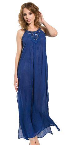 1cafc2132e Pia Rossini 2015 Pepita Long Blue #Maxi #Dress Pepita-#Maxidress-Blue Style  #PEPITA-MAXIDRESS-BLUE Pepita Maxi dress Features: -Embroidered Neckline  -Cool ...