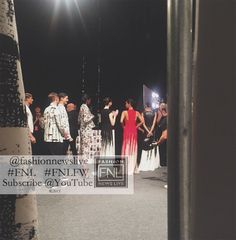 Modeling getting ready for the runway. #SS16 #FNLFW #NYFW