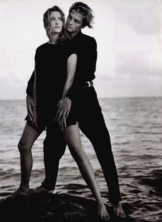 GIANNI VERSACE Couture Spring Summer 1994 featuring TATJANA PATITZ & STAN NELSON photographed by BRUCE WEBER