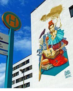 Great artwork by @rookie_the_weird_ in Frankfurt Germany #frankfurt #germany #mural #wallart #drawing #painting #spraypaint #sprayart #arteurbano #streetart #graphicdesign #contemporaryart #design #graffiti #awesome #great