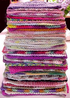 52 weeks of washcloths/dishcloths=awesome idea!