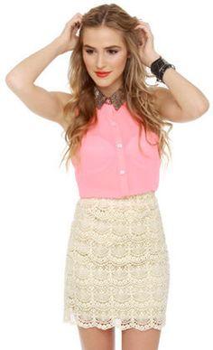 #Lulus                    #Skirt                    #Lovely #Lace #Skirt #Cream #Skirt #$39.00          Lovely Lace Skirt - Cream Skirt - $39.00                                      http://www.seapai.com/product.aspx?PID=1811320