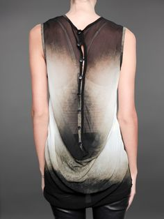Ann Demeulemeester shirt with draped back and button detail
