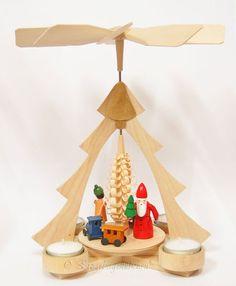 Pyramide Wärmespiel Weihnachtsdekoration echt Erzgebirge Hunde