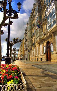 Santander, Paseo de Pereda Ensanche Ss mediados XVIII y XIX  #Cantabria #Spain