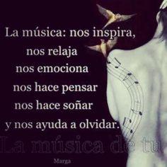 La musica inspira #frases