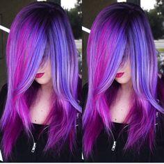Living Doll  by Brittnie Garcia Mermaid hair Unicorn hair Rainbow hair Neon hair Big haircolor hotonbeauty.com