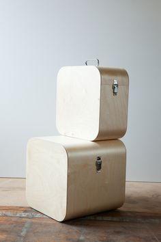 Wood storage chests