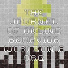 The Journal of Online Behavior (JOB)-Zunia.org