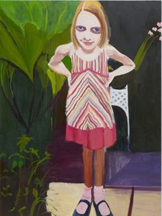 2006 MOLLY IN THE STRIPED DRESS, Chantal Joffe (b1969, St.Albans, VT)