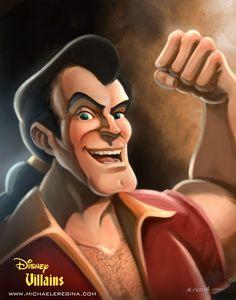 not Disney Princess Art, but still way cool. Gaston