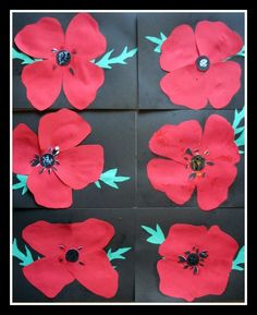 Some lovely Poppy Day crafts here Remembrance Day Activities, Remembrance Day Art, Art For Kids, Crafts For Kids, Arts And Crafts, Poppy Craft, Patriotic Images, Anzac Day, Teaching Art