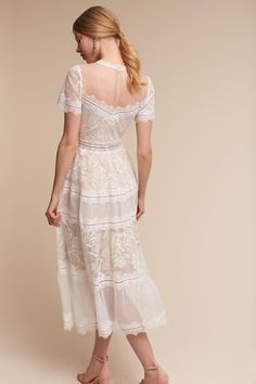 BHLDN Saylor Dress in Bride Reception & Rehearsal Dresses Bohemian Style Wedding Dresses, Unusual Wedding Dresses, Bridal Wedding Dresses, Sheer Embroidered Dress, Lace Dress, Couture Dresses, Fashion Dresses, Grad Dresses, Formal Dresses