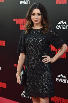Grey's Anatomy's Caterina Scorsone Scorches at The November Man Premiere (PHOTOS)