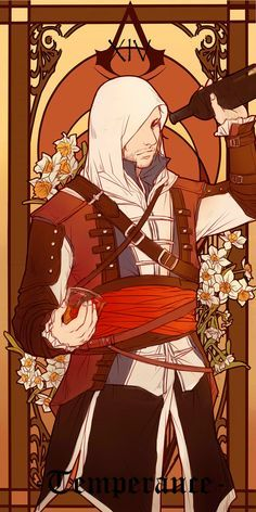 [AC] Tarot Cards: Temperance by Lkikai on DeviantArt Arte Assassins Creed, Assassins Creed Black Flag, Character Inspiration, Character Art, Connor Kenway, All Assassin's Creed, Cultura Pop, Game Art, Anime