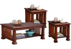 Clairfield Tobacco 3 Pc Table Set.559.97. Cocktail Table 50L x 30W x 19H, End Table 28L x 23W x 24H. Find affordable Table Sets for your home that will complement the rest of your furniture. #iSofa #roomstogo