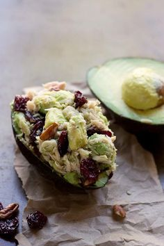 13. Tart Cherry Tuna Stuffed Avocados #Greatist http://greatist.com/health/healthy-single-serving-meals