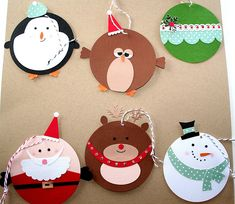 Punch Art Christmas Tags for Christmas in July Diy Christmas Cards, Christmas Mood, Felt Christmas, Christmas Decorations, Christmas Ornaments, Christmas Projects, Holiday Crafts, Handmade Gift Tags, Childrens Christmas