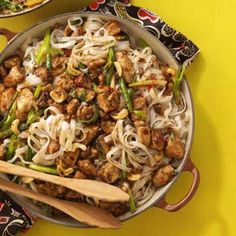Cashew Chicken with Noodles Quick Dinner Recipe from Taste of Home -- It's quick, easy and so delicious! —Anita Beachy, Bealeton, Virginia