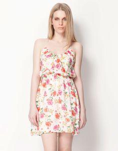 Bershka España - Vestido Bershka flores ❤