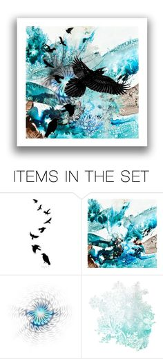 """""""Abstract With Bird"""" by kari-c ❤ liked on Polyvore featuring art and http"""